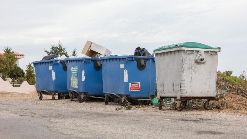 dump carts beside the road