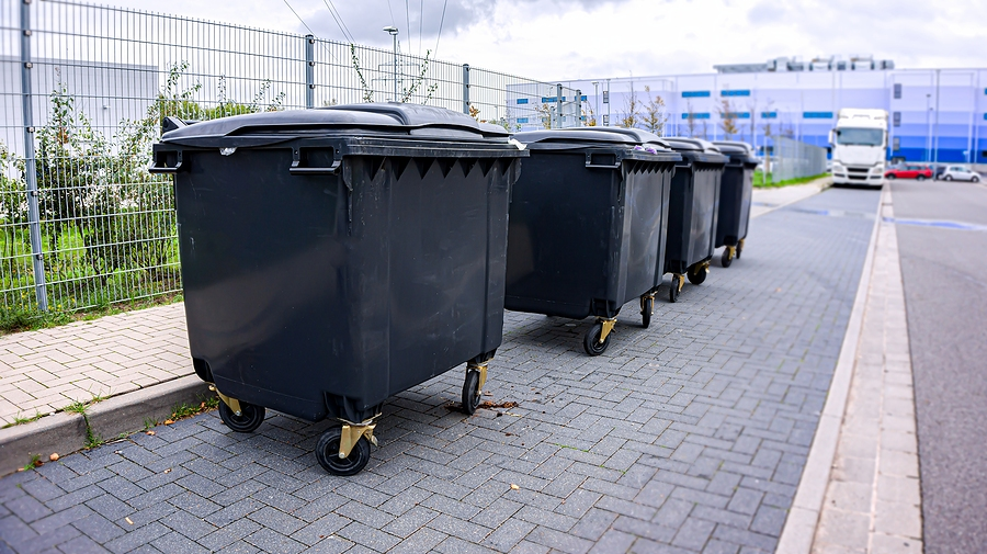 trash cans in the area